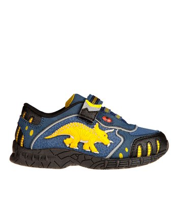 Blue 3-D Light-Up Triceratops Sneaker