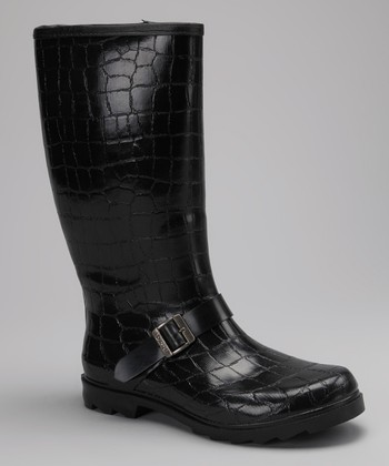 Black Crocodile Roanoke Rain Boot