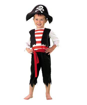 Black Pirate Vest Dress-Up Set - Toddler