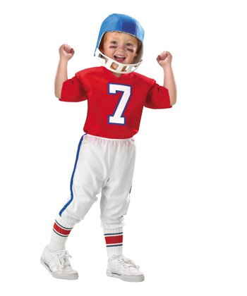 Red & White Quarterback Dress-Up Set - Toddler