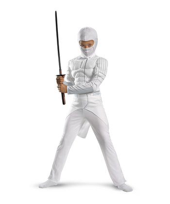 White Storm Shadow Muscle Dress-Up Set - Boys