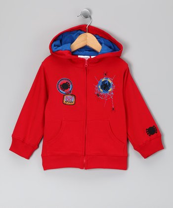 Red Spider-Man Zip-Up Hoodie - Infant