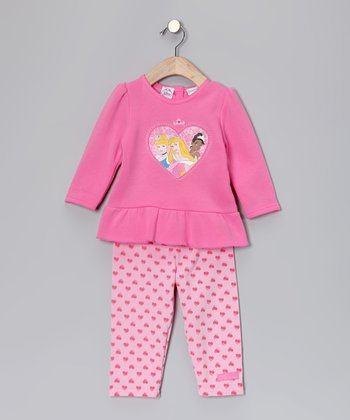 Pink Princess Tunic & Heart Leggings - Infant