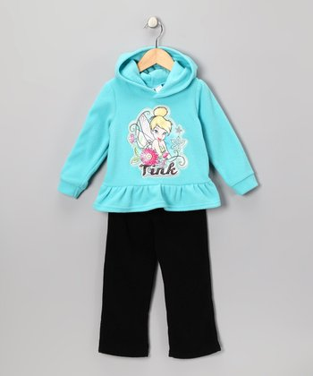Blue & Black 'Tink' Hoodie & Pants - Toddler