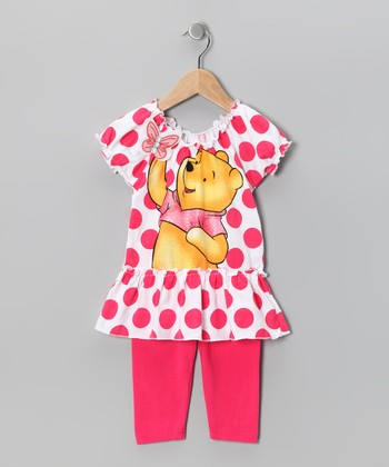 Pink Polka Dot Winnie Tunic & Leggings - Infant