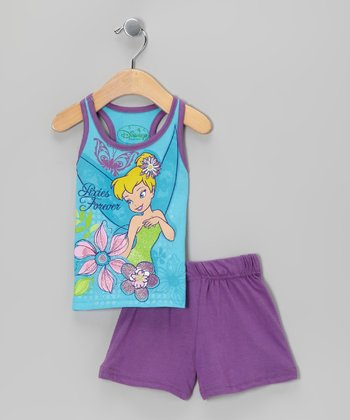 Teal & Purple 'Pixies Forever' Tank & Shorts - Infant