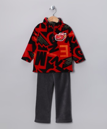 Red Lightning McQueen Fleece Pullover & Pants - Toddler