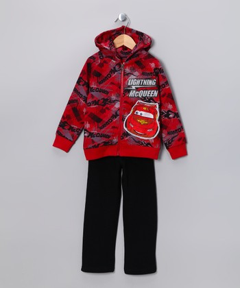 Red 'Lightning McQueen' Zip-Up Hoodie & Pants - Infant