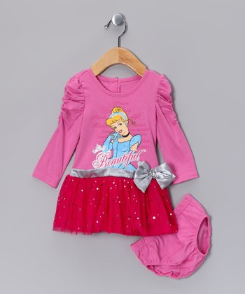 Pink Cinderella Dress & Diaper Cover - Toddler