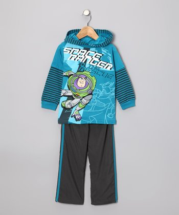 Blue 'Space Ranger' Hoodie & Pants - Toddler