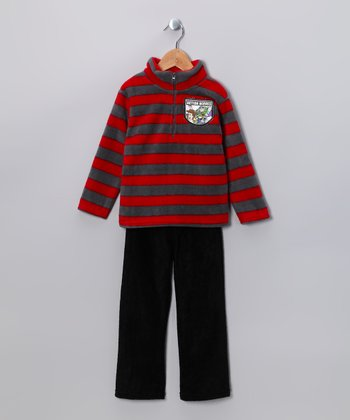 Gray & Red Toy Story 'Action Heroes' Pullover & Pants - Toddler