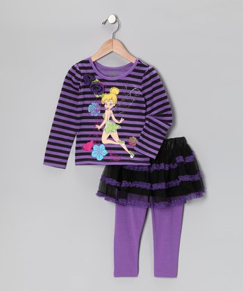 Purple Tinker Bell Tunic & Skirted Leggings - Toddler