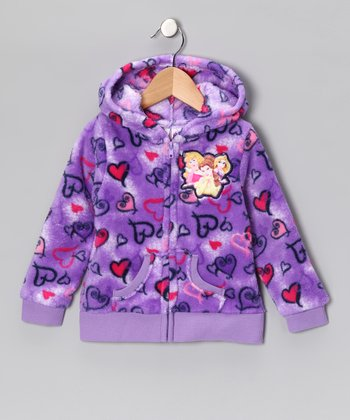 Purple Disney Princess Zip-Up Hoodie - Girls