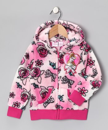 Pink Belle Zip-Up Hoodie - Girls