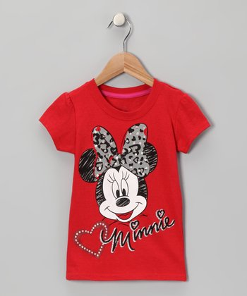 Red Apple 'Minnie' Tee - Toddler