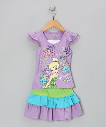 Violet 'Pretty Pixie' Tee & Tiered Skirt - Infant & Toddler
