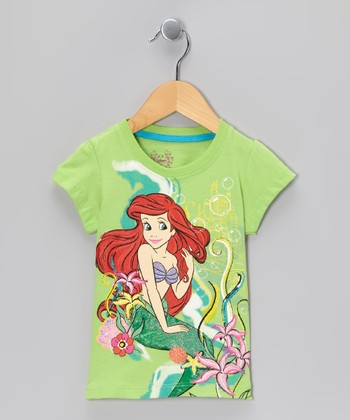 Green Sparkle Ariel Underwater Tee - Toddler