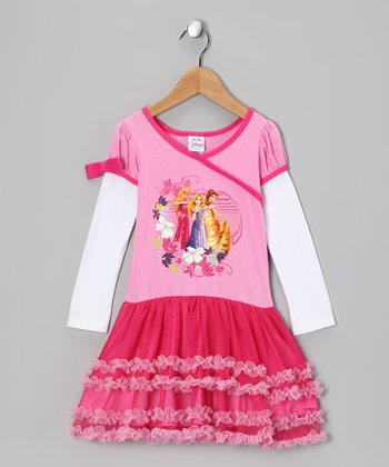 Pink Princess Ruffle Layered Dress - Toddler