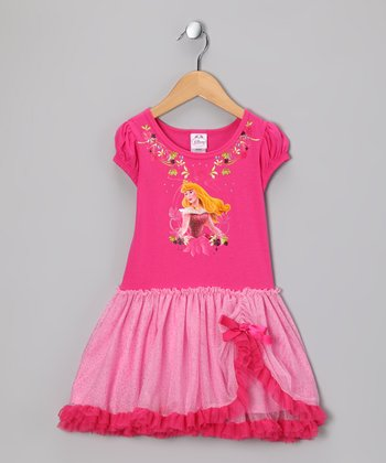 Pink Princess Ruffle Dress - Toddler & Girls