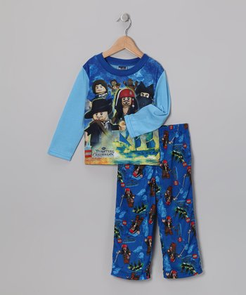 Blue Pirates of the Caribbean Pajama Set - Boys