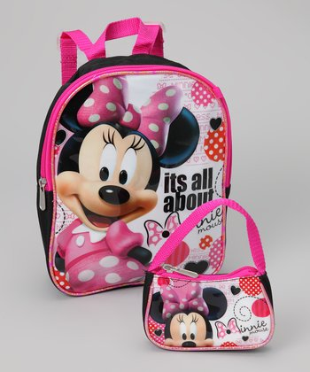 Pink Minnie Backpack & Coin Purse
