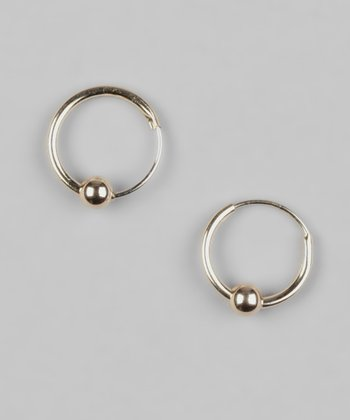 Gold Princess Bead Hoop Earrings