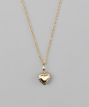 10k Gold Heart Pendant Necklace