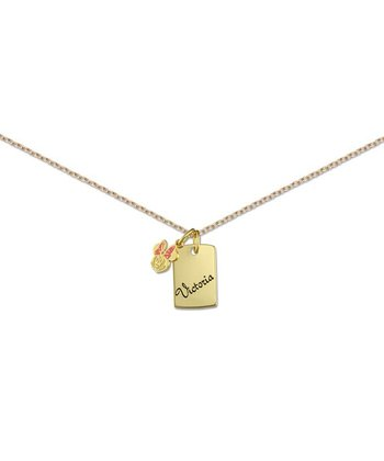 Gold Minnie Mouse Personalized Charm Necklace