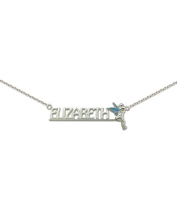 Sterling Silver Tinker Bell Personalized Necklace