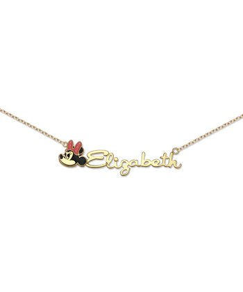 Gold Minnie Mouse Personalized Necklace