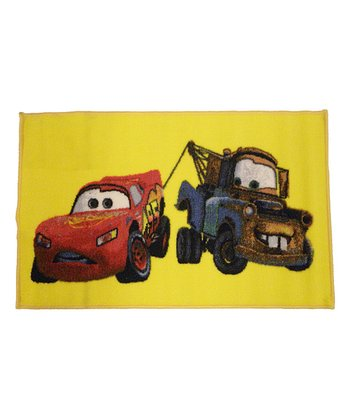 Yellow Lightning McQueen & Mater Rug