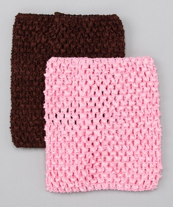 Pink Crocheted Top Set - Infant