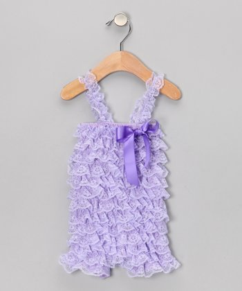 Lavender Lace Ruffle Romper - Infant & Toddler