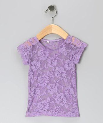 Purple Lace Top - Infant, Toddler & Girls
