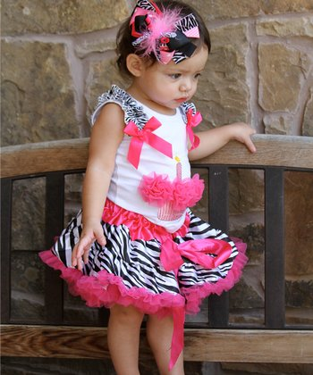 Hot Pink Zebra Pettiskirt - Infant & Toddler