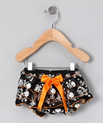 Orange & Black	Skull Diaper Cover - Infant
