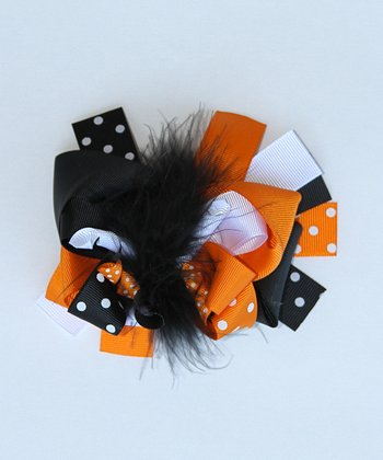 Orange & Black	Spooky Bow Clip