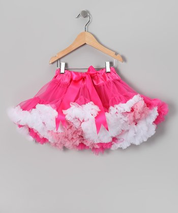 Hot Pink & White Pettiskirt - Infant, Toddler & Girls