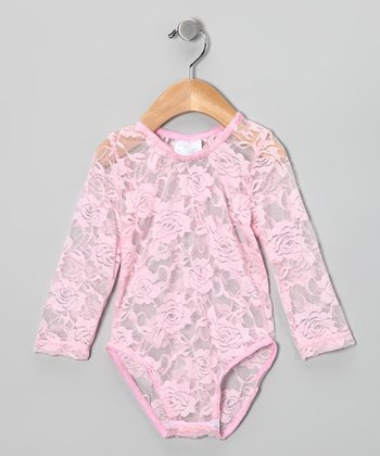 Pink Lace Bodysuit - Infant