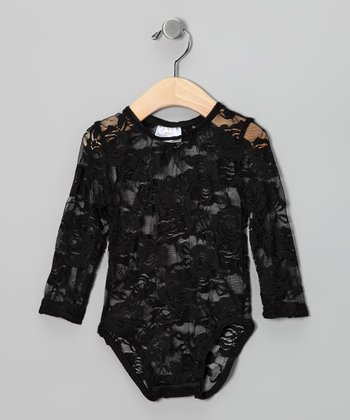 Black Lace Bodysuit - Infant