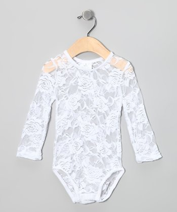 White Lace Bodysuit - Infant