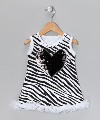 Zebra Heart Dress - Infant