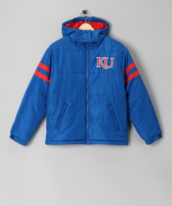 Division 1 Blue Kansas Jayhawks Puffer Coat - Kids
