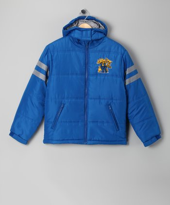 Division 1 Blue Kentucky Wildcats Puffer Coat - Kids