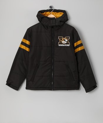 Division 1 Black Missouri Puffer Coat - Kids