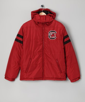 Division 1 Crimson South Carolina Gamecocks Puffer Coat - Kids