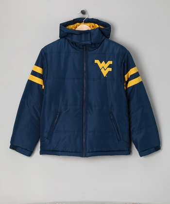 Division 1 Navy West Virginia Mountaineers Puffer Coat - Kids