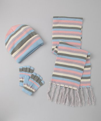 Baby Blue Rainbow Sherbet Scarf Set