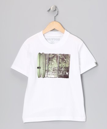 White 'Coastal' Tee - Infant, Toddler & Boys