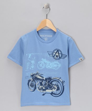 Blue Motorcycle Tee - Toddler & Boys